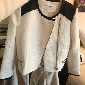 Club Monaco white quilted jacket